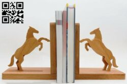 Horse bookshelf E0012901 file cdr and dxf free vector download for cnc