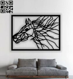 Horse panel E0012641 file cdr and dxf free vector download for laser cut plasma