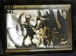 Illidan light box E0012618 file cdr and dxf free vector download for laser cut