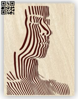Illusion face E0012890 file cdr and dxf free vector download for laser engraving machines