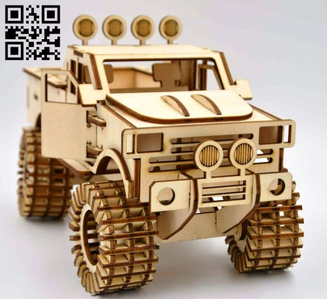 Jeep car E0012747 file cdr and dxf free vector download for laser cut