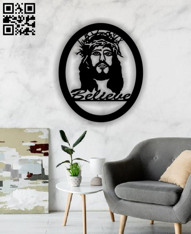 Jesus Christ E0012780 file cdr and dxf free vector download for laser cut
