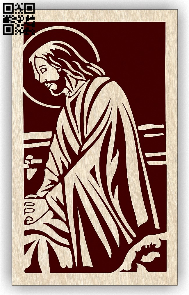 Jesus E0012914 file cdr and dxf free vector download for laser engraving machines