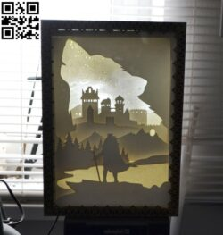 King of the North light box E0012654 file cdr and dxf free vector download for laser cut