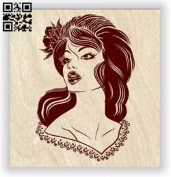 Lady E0012598 file cdr and dxf free vector download for laser engraving machines