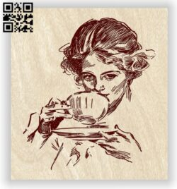 Lady E0012599 file cdr and dxf free vector download for laser engraving machines