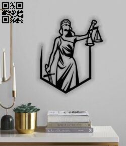 Lady Justice E0012676 file cdr and dxf free vector download for laser cut plasma
