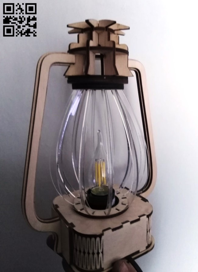 Lantern lamp E0012825 file cdr and dxf free vector download for laser cut