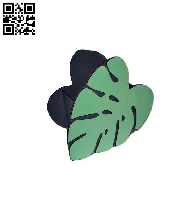 Leaf box E0012887 file cdr and dxf free vector download for laser cut