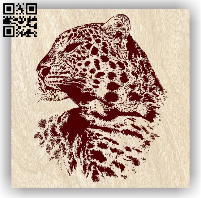 Leopard E0012723 file cdr and dxf free vector download for laser engraving machines