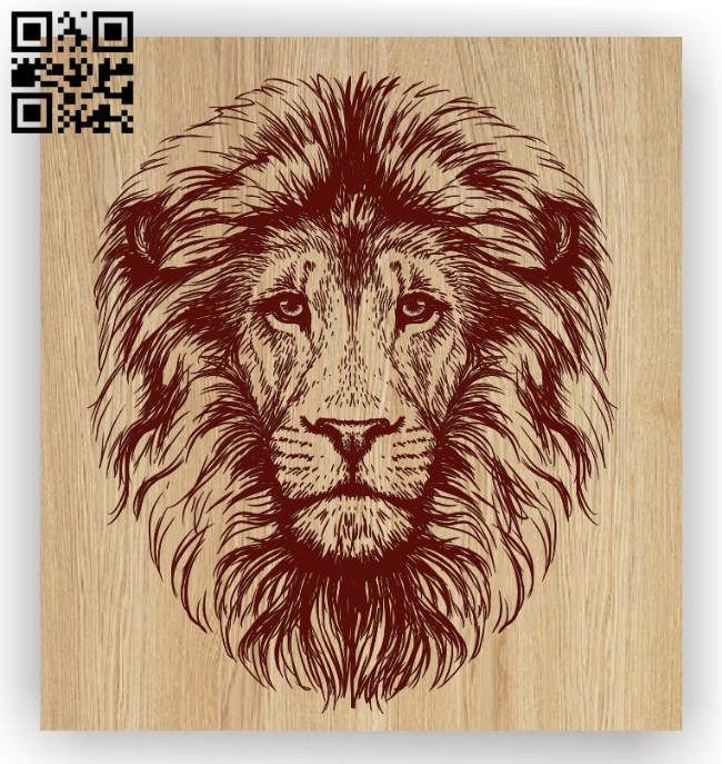 Lion head E0012722 file cdr and dxf free vector download for laser engraving machines