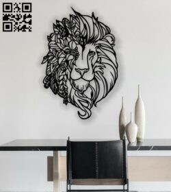 Lion pano E0012923 file cdr and dxf free vector download for laser cut plasma