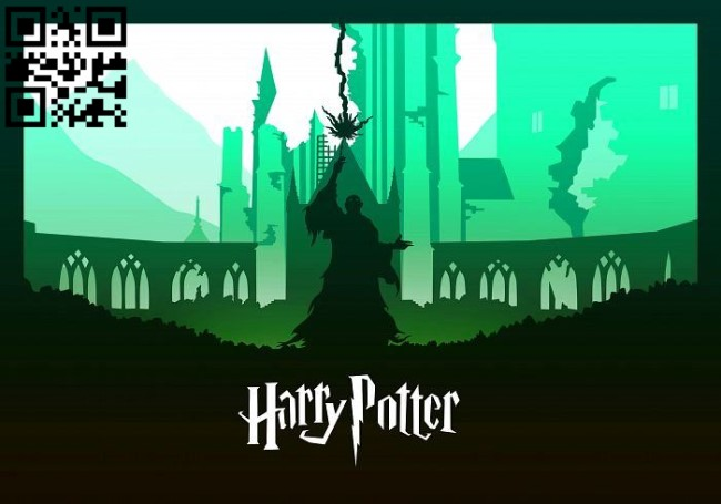 Lord Voldemort - Harry potter light box E0012653 file cdr and dxf free vector download for laser cut