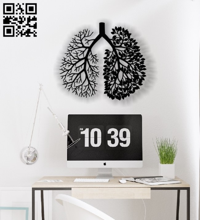 Lung tree E0012743 file cdr and dxf free vector download for laser cut plasma