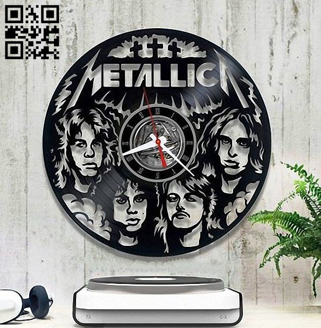 Metallica band E0012859 file cdr and dxf free vector download for laser cut