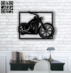 Motorcycle E0012698 file cdr and dxf free vector download for laser cut plasma