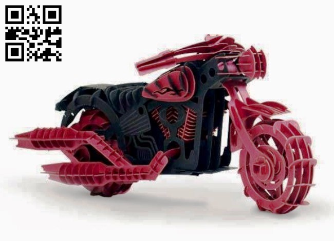 Motorcycle E0012820 file cdr and dxf free vector download for laser cut