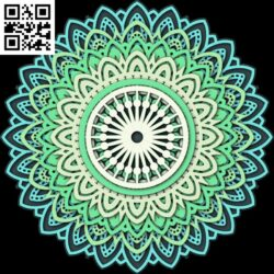 Multilayer Mandala E0012590 file cdr and dxf free vector download for laser cut