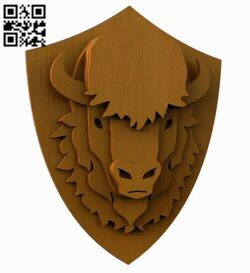Multilayer bull E0012768 file cdr and dxf free vector download for laser cut
