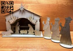 Nativity scene E0012843 file cdr and dxf free vector download for laser cut