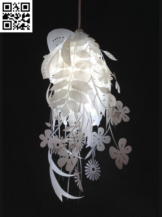 Natural canvas lampshade E0012928 file cdr and dxf free vector download for laser cut