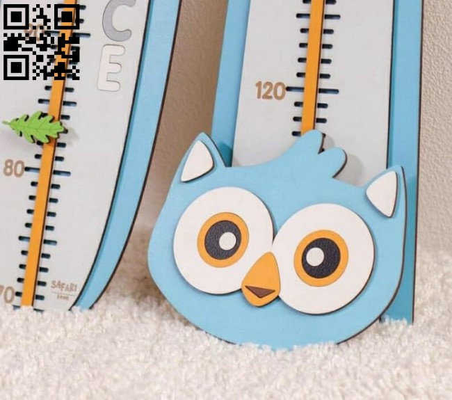 Owl length gauge E0012612 file cdr and dxf free vector download for laser cut