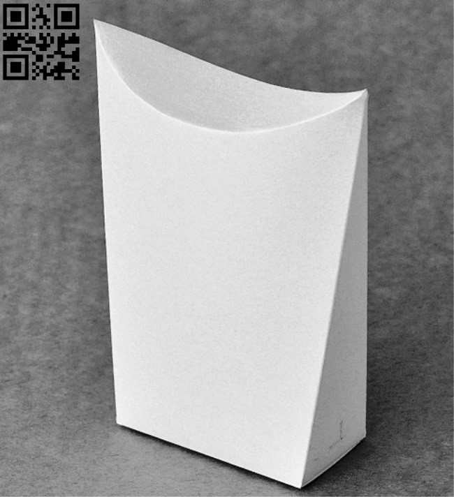Paper box E0012650 file cdr and dxf free vector download for laser cut