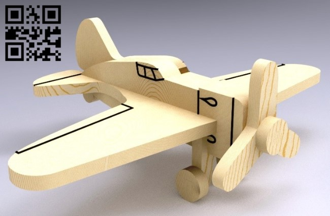 Plane E0012866 file cdr and dxf free vector download for laser cut