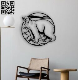Polar bear panel E0012741 file cdr and dxf free vector download for laser cut plasma