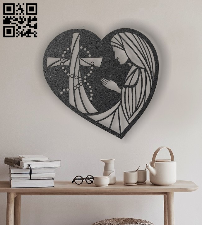 Prayer E0012939 file cdr and dxf free vector download for laser engraving machines