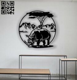 Rhino panel E0012802 file cdr and dxf free vector download for laser cut