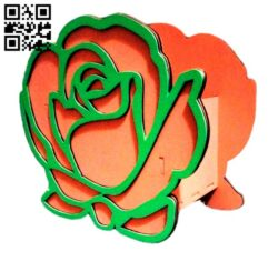 Rose box E0012856 file cdr and dxf free vector download for laser cut
