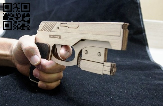 Rubber gun small E0012862 file cdr and dxf free vector download for laser cut