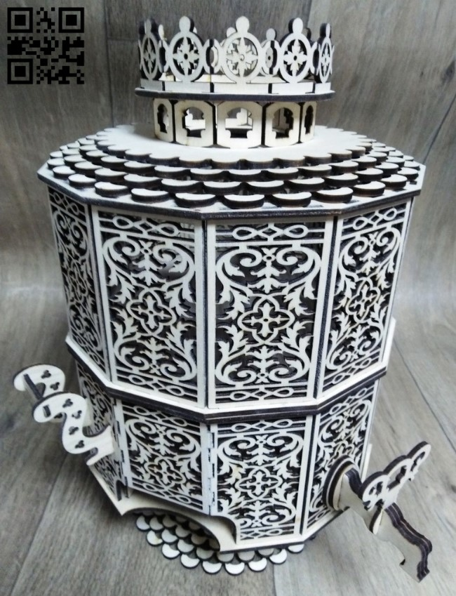 Samovar candy bowl E0012788 file cdr and dxf free vector download for laser cut