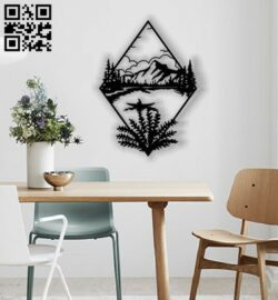 Scenery panel E0012783 file cdr and dxf free vector download for laser cut plasma