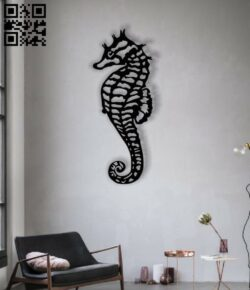 Seahorse E0012814 file cdr and dxf free vector download for laser cut plasma