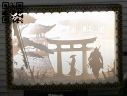 Sekiro light box E0012688 file cdr and dxf free vector download for laser cut