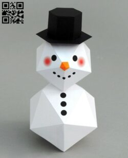 Snowman E0012682 file cdr and dxf free vector download for laser cut
