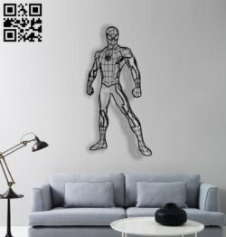 Spiderman E0012810 file cdr and dxf free vector download for laser cut plasma