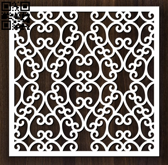 Square decoration E0012630 file cdr and dxf free vector download for laser cut