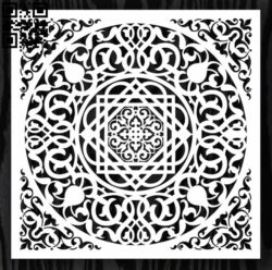 Square decoration E0012635 file cdr and dxf free vector download for laser cut
