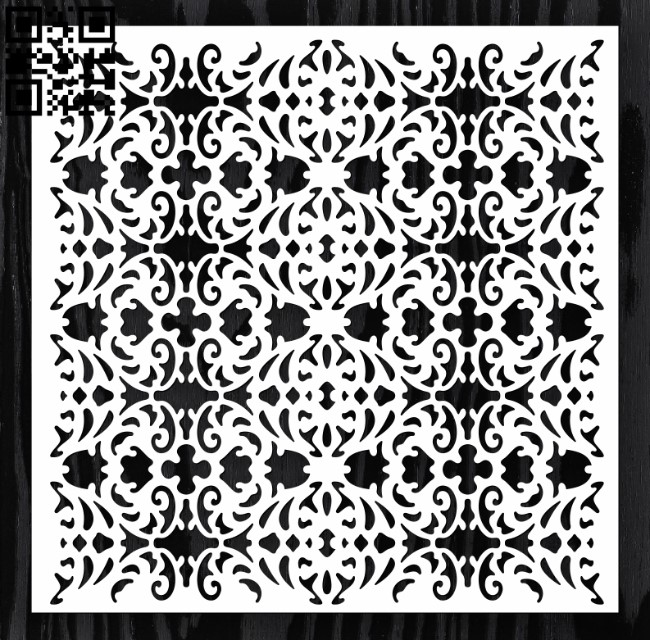 Square decoration E0012636 file cdr and dxf free vector download for laser cut