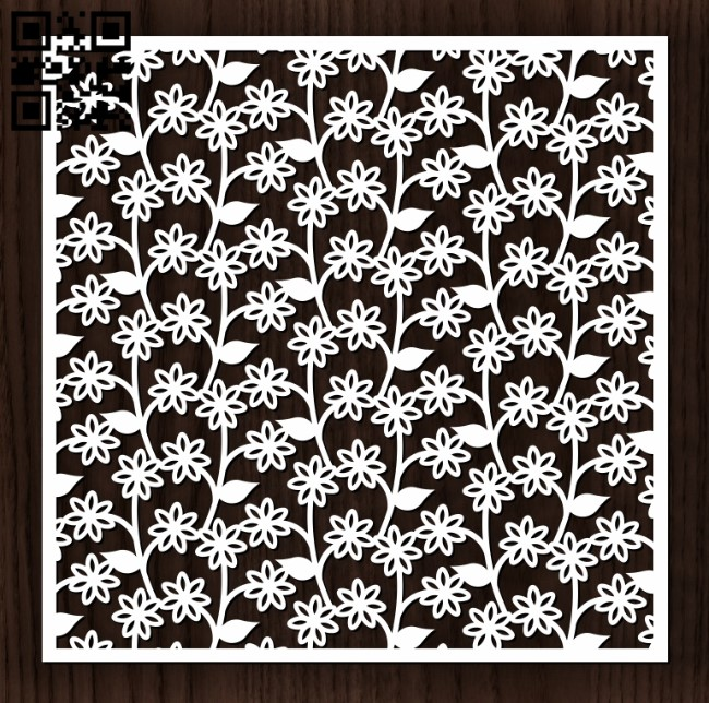Square decoration E0012716 file cdr and dxf free vector download for laser cut