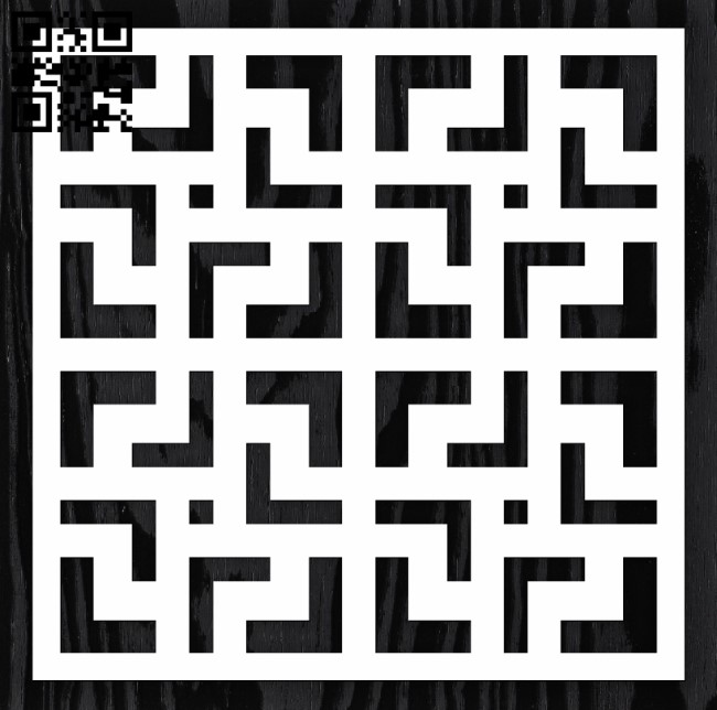 Square decoration E0012794 file cdr and dxf free vector download for laser cut