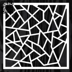 Square decoration E0012795 file cdr and dxf free vector download for laser cut
