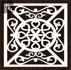 Square decoration E0012797 file cdr and dxf free vector download for laser cut