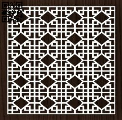 Square decoration E0012798 file cdr and dxf free vector download for laser cut