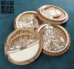 Star war E0012868 file cdr and dxf free vector download for laser cut