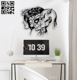 Superheroes E0012812 file cdr and dxf free vector download for laser cut plasma