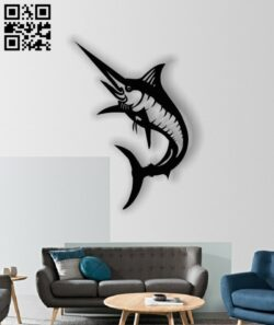 Swordfish E0012784 file cdr and dxf free vector download for laser cut plasma